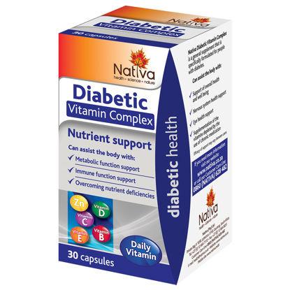 Picture of Nativa Diabetic Vitamin Complex Capsules 30's