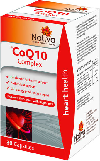 Picture of Nativa CoQ10 Complex Capsules 30's
