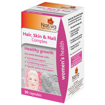 Picture of Nativa Hair, Skin & Nail Complex Capsules - 30's
