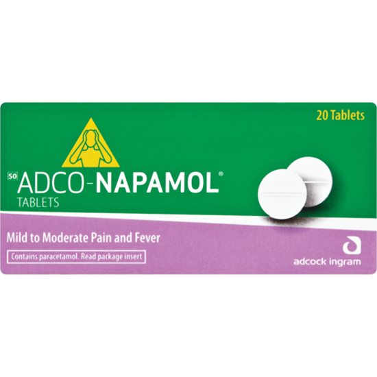 Picture of Adco-Napamol 500mg Tablets 20's
