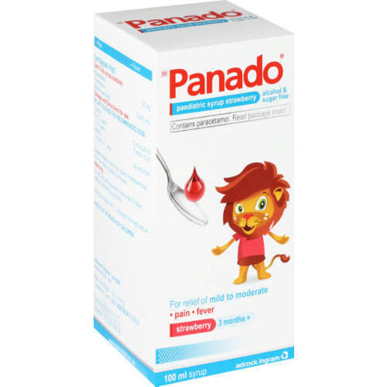 Picture of Panado Paediatric Syrup Strawberry 120mg/5ml 100ml