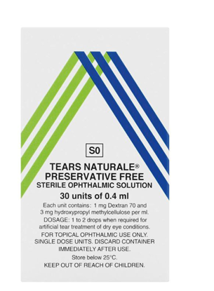 Picture of Tears Naturale Preservative Free Sterile Ophthalmic Solution 30x0.4ml
