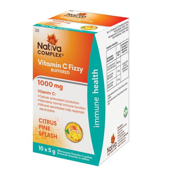 Picture of Nativa Vitamin C 1000mg Fizzy Pine Splash Sachets 10's