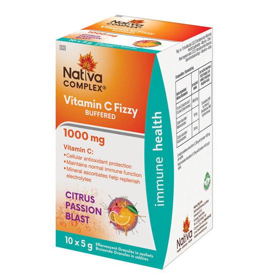 Picture of Nativa Vitamin C 1000mg Fizzy Passion Blast  Sachets 10's