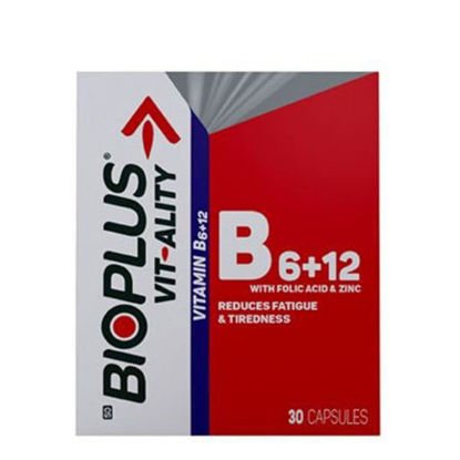 Picture of Bioplus Vit-Ality Vitamin B6+12 Capsules 30's