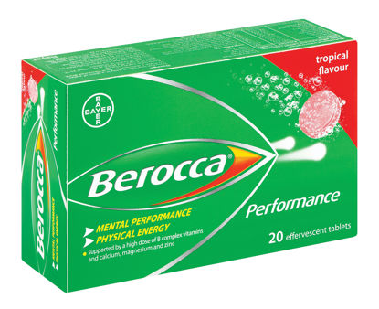 Picture of Berocca Performance Effervescent Tablets Tropical 20's